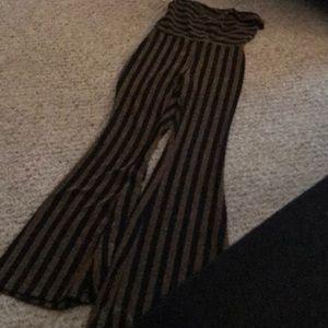 fashion nova halter top one piece flare pants